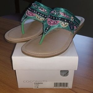 NWT Coconuts by Matisse Chaka Turquoise Size 7